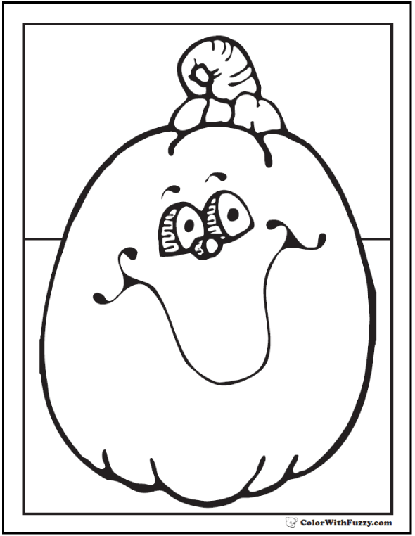Fun Pumpkin Halloween coloring page