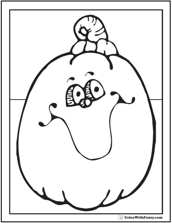 Fun Pumpkin Halloween coloring page