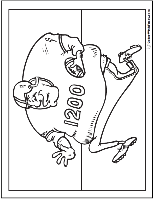 wide receiver football coloring pages - photo#4