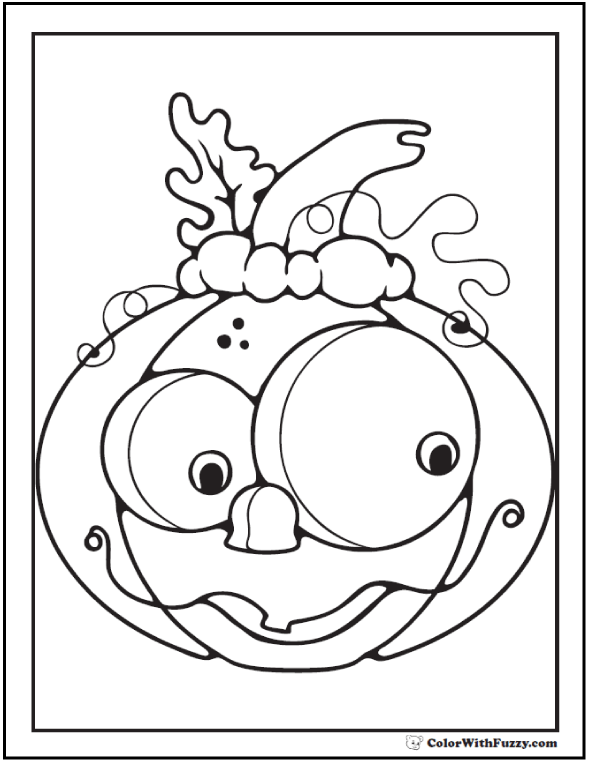 Halloween coloring pages: Funny Pumpkin Printable