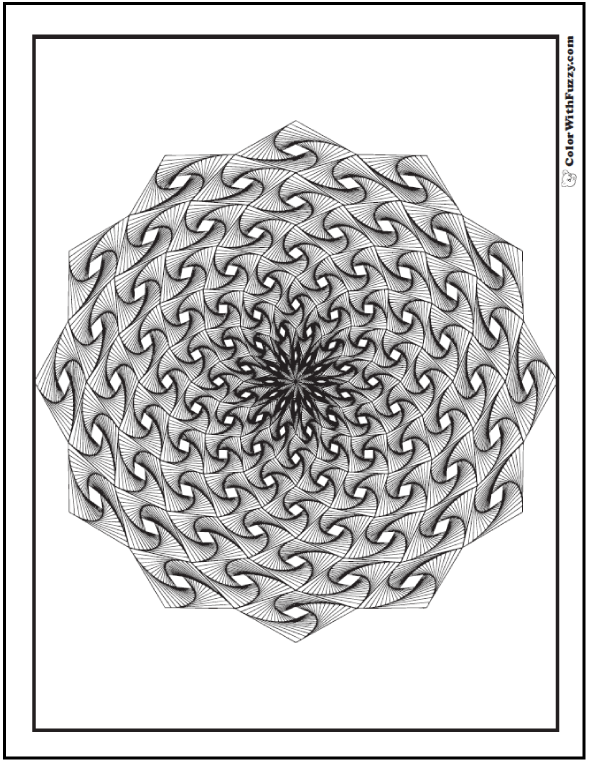 Adult Coloring Pages Geometic