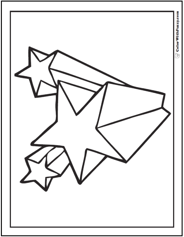 Geometric stars Fourth of July coloring page.
