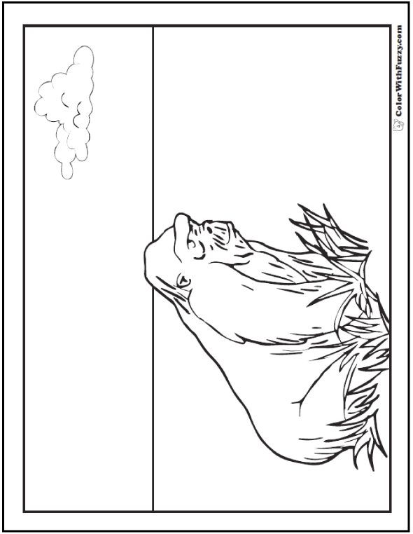 Gorilla Coloring Pages Print And