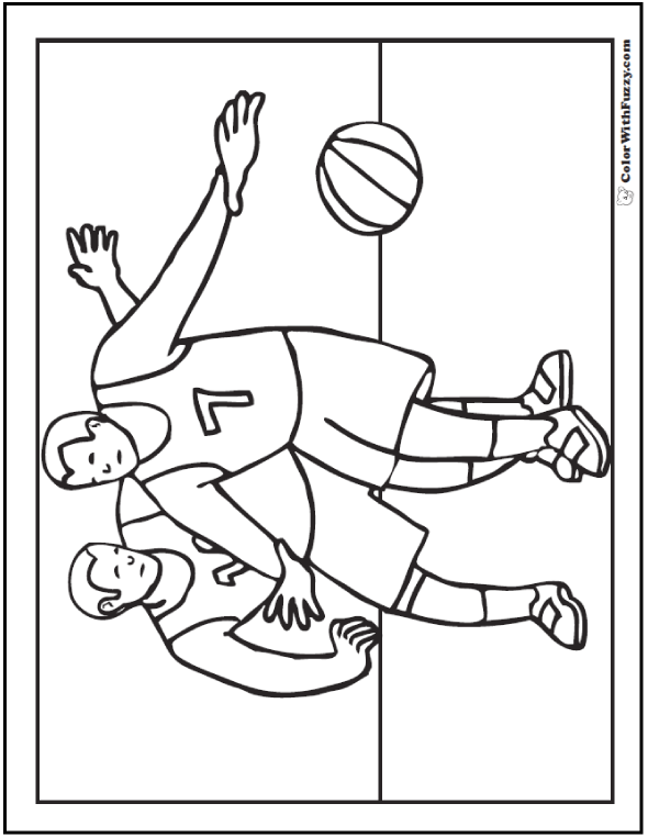 Basketball Guard Coloring Page