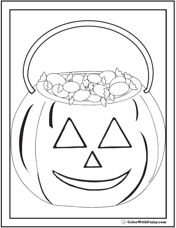 Trick Or Treat Halloween Coloring Picture