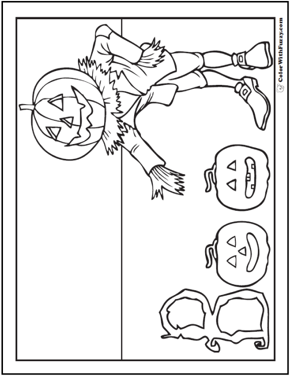 Jack O'Lantern Halloween coloring pages:  Boo Banner