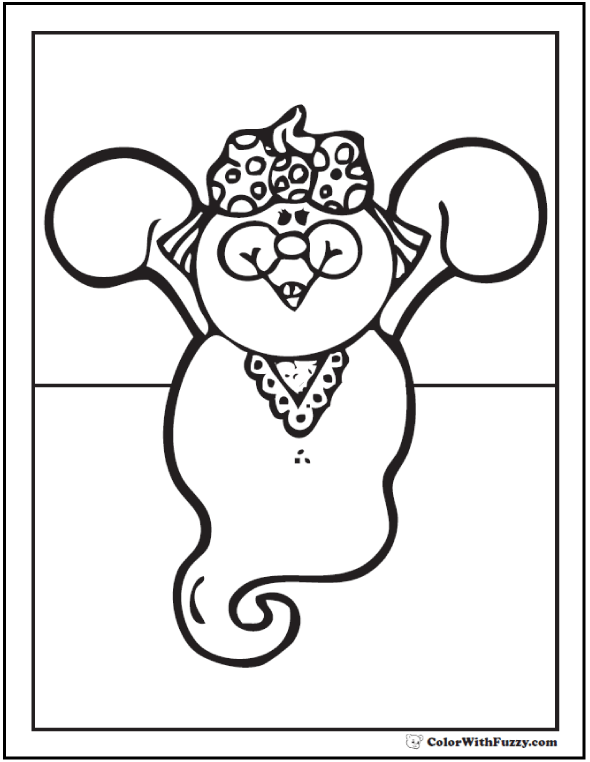 Mama Halloween Ghost Coloring Sheet