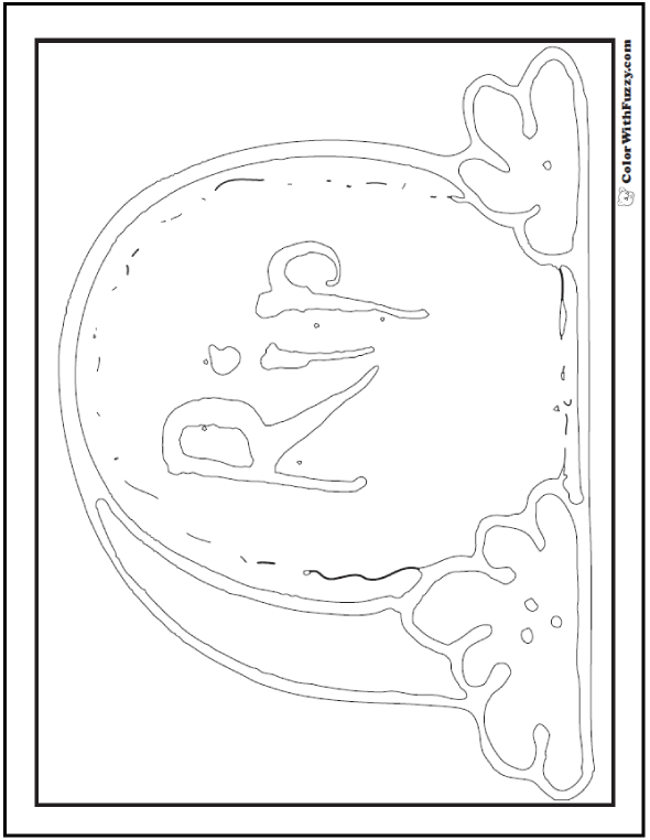 Halloween Rest In Peace Coloring Printable: RIP Tomb Stone