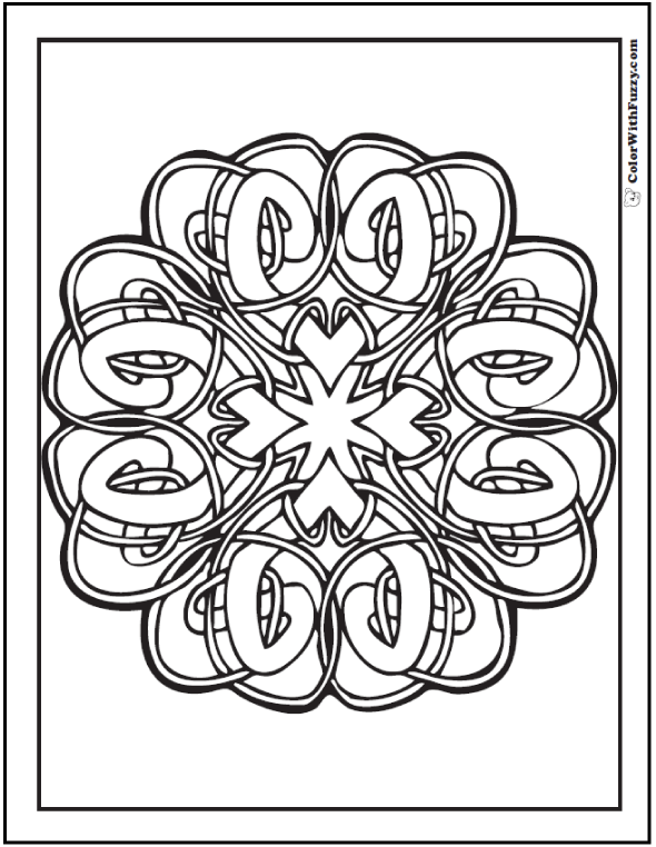 ColorWithFuzzy.com Celtic Designs:  Hard Celtic Coloring Page