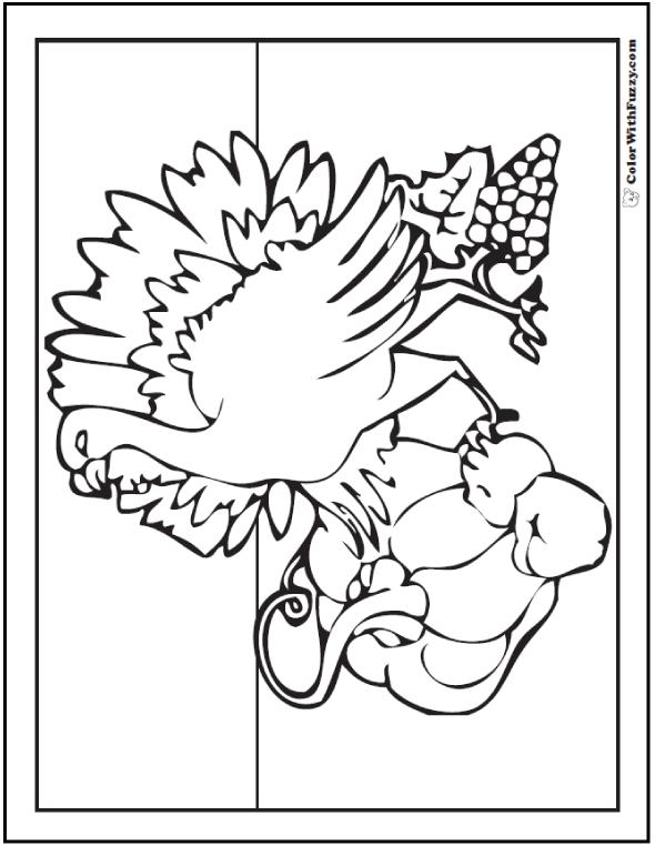 Harvest Turkey Coloring Sheet