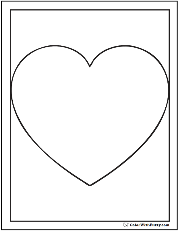 Heart Shape Coloring Sheets
