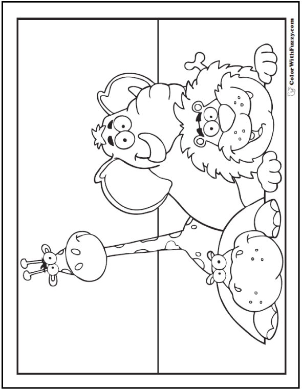 Animals At The Zoo Hippopotamus Coloring Page