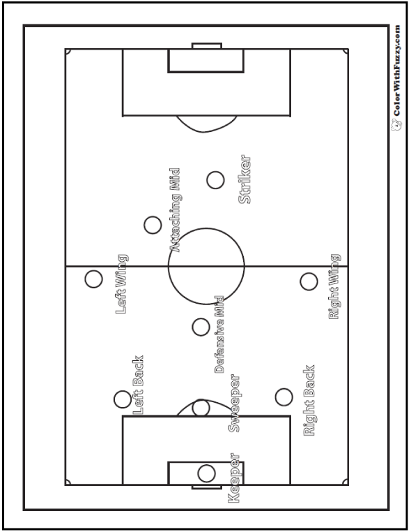 Intramural Soccer Field Coloring Worksheet