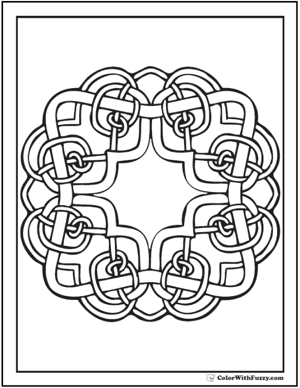 Irish Celtic Coloring Pages 87+ #CelticColoringPages and #KidsColoringPages at ColorWithFuzzy.com