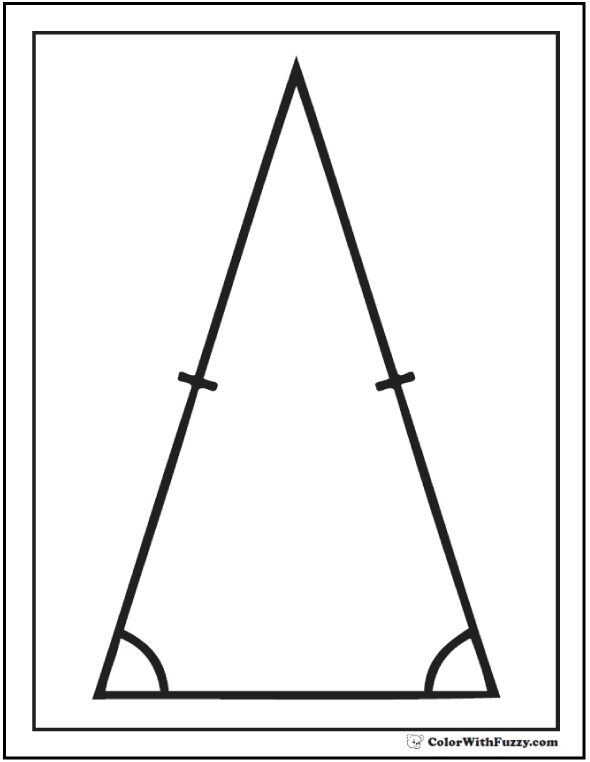 Isosceles Triangle Shape