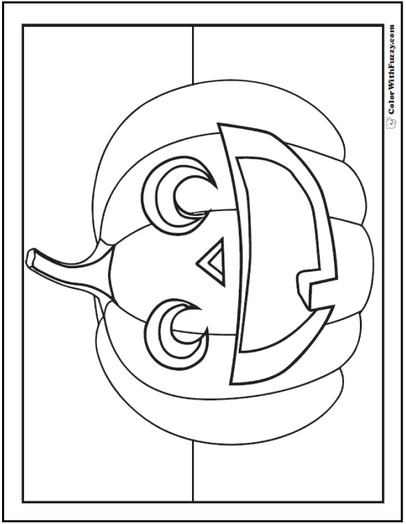 Jack O'Lantern Coloring Page: Halloween Bear Clown