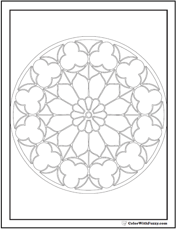 Adult Coloring Pages: Kaleidoscope Picture