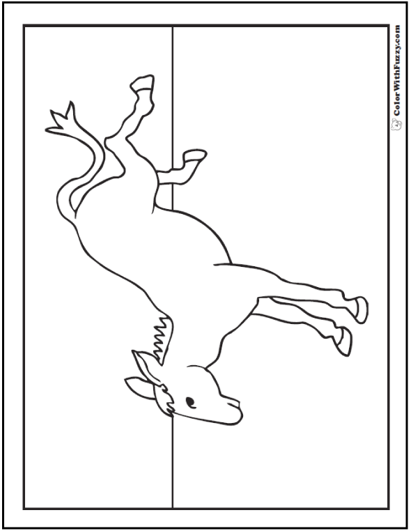 Kicking donkey coloring pages.
