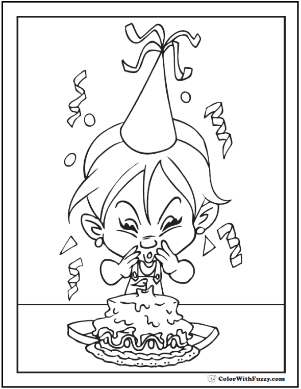 Kids Birthday Party Coloring