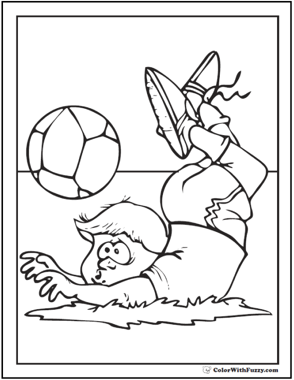Fall For the Soccer Ball Coloring
