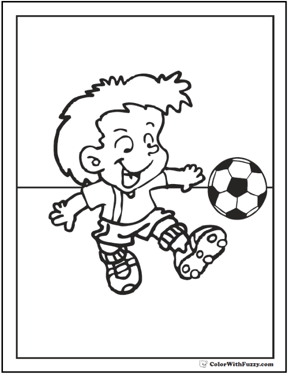 Kids Soccer Coloring Theme