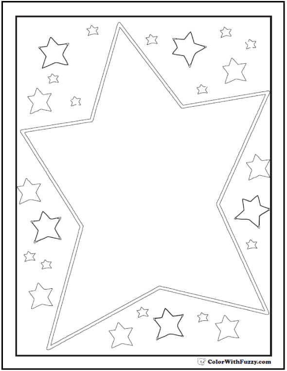 Kids Star Coloring Sheet