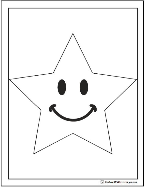 Kindergarten Star Coloring Pages