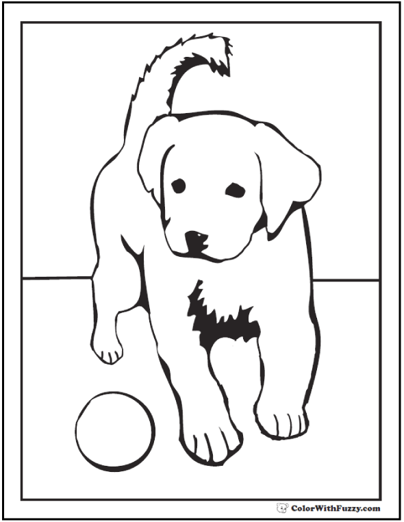 35+ Dog Coloring Pages ✨ Breeds, Bones, And Dog Houses