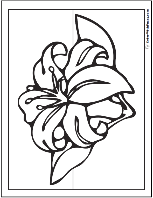 Stargazer Lily Coloring Page