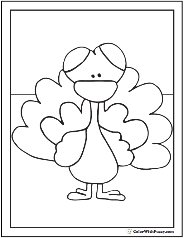 Little Turkey To Color: Jack or Jenny