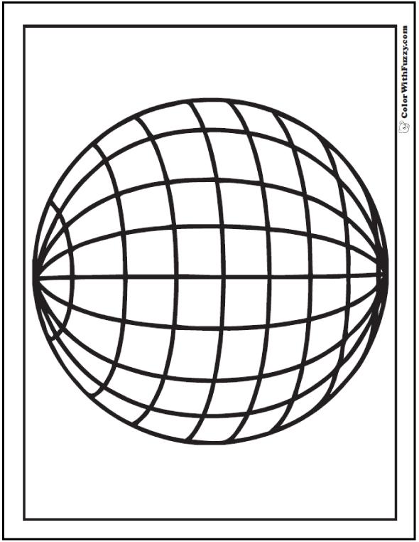 Longitude And Lattitude Globe Sphere