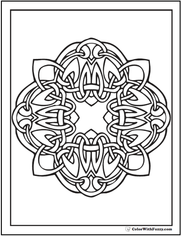 ColorWithFuzzy.com Celtic Coloring Pages: Celtic Loop Coloring