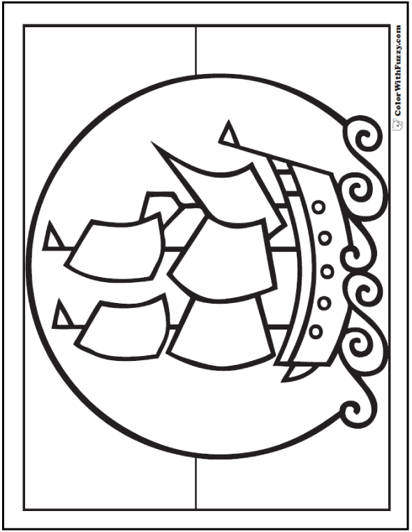 Toy Ship or Mayflower Coloring Sheet