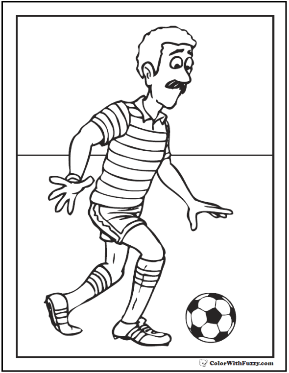 Men's Soccer Coloring Picture