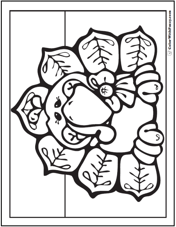 Momma Turkey Coloring Sheet: Hen