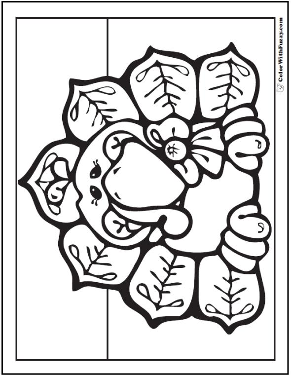 Momma Turkey Coloring Sheet: Hen