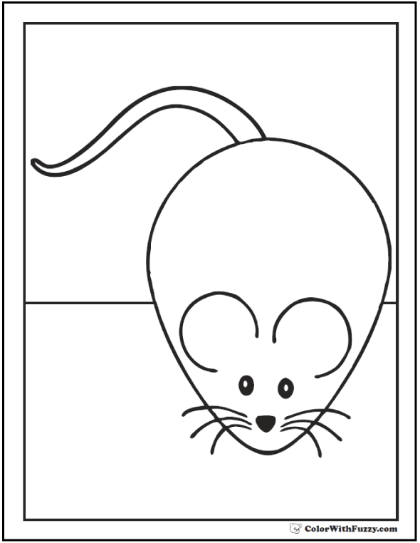 Big Mouse Coloring Picture