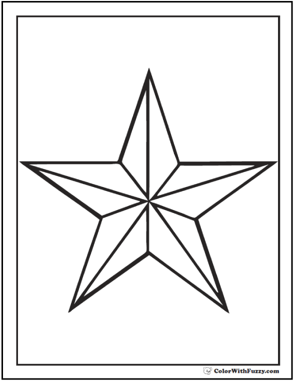 Portrait Nautical Star Coloring Printable