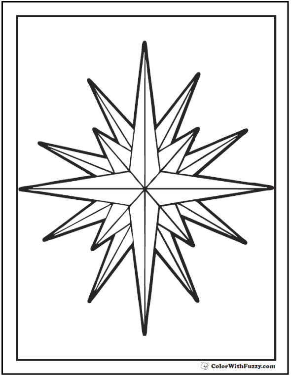free coloring stars pages - photo#7