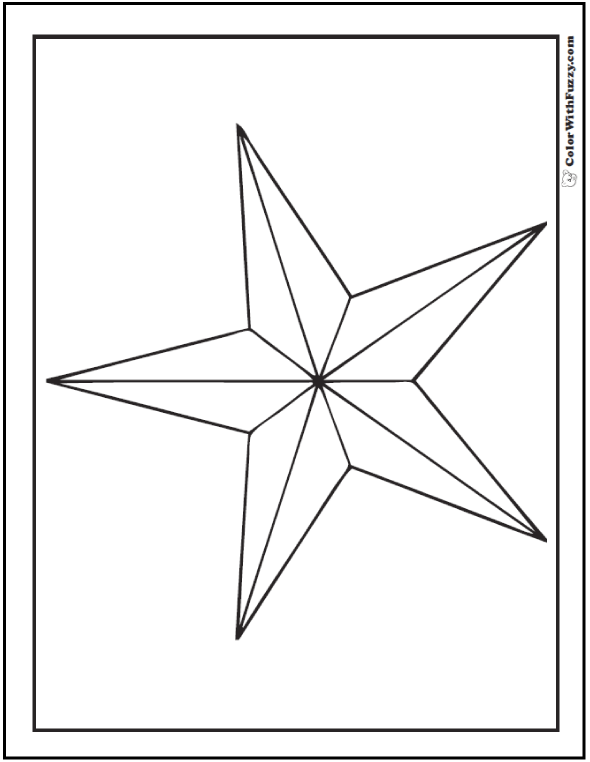 free coloring stars pages - photo#9