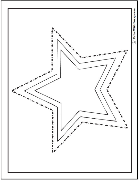 Nested Stars Coloring Page