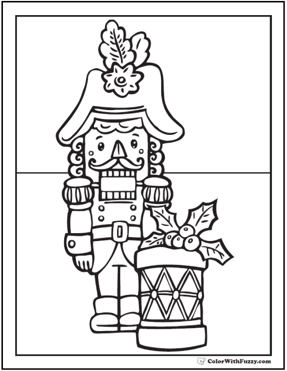 Christmas Nutcracker Coloring Sheet