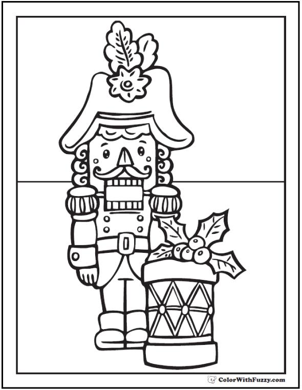 Nutcracker Coloring Sheet