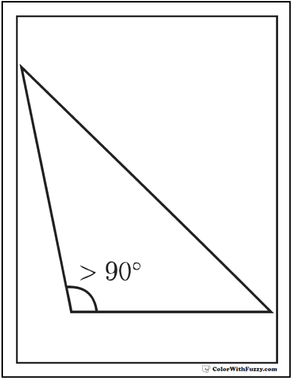 Obtuse Triangle Shape To Color