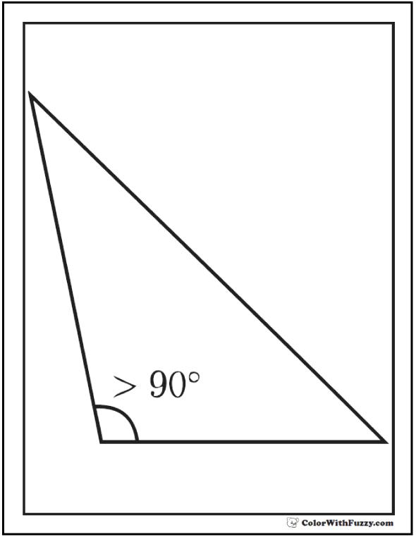 Obtuse Triangle Shape To Color