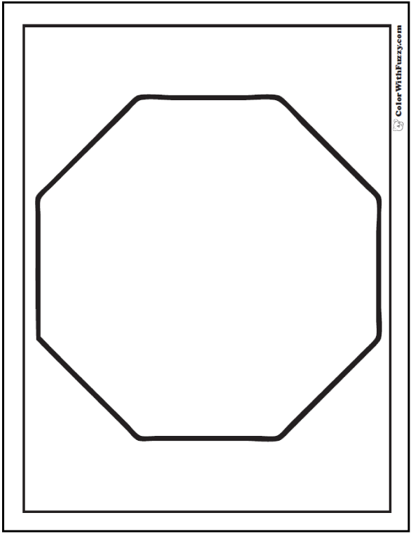 Number Names Worksheets octagon shape pictures : Shape Coloring Pages: Customize And Print