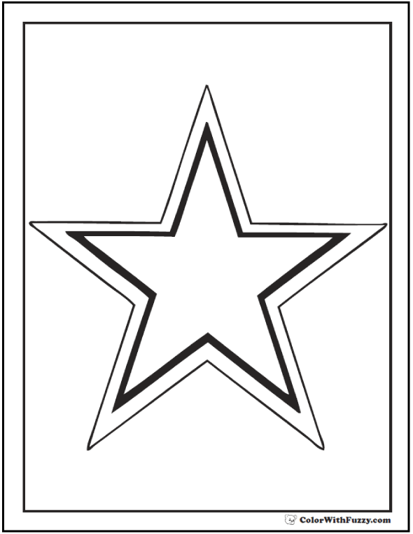 Printable Outline Star Coloring