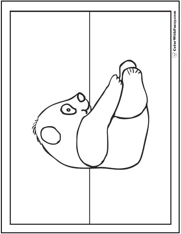 Panda Printable For Kids