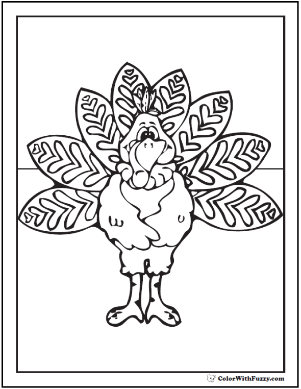 Pappa Turkey Coloring Page