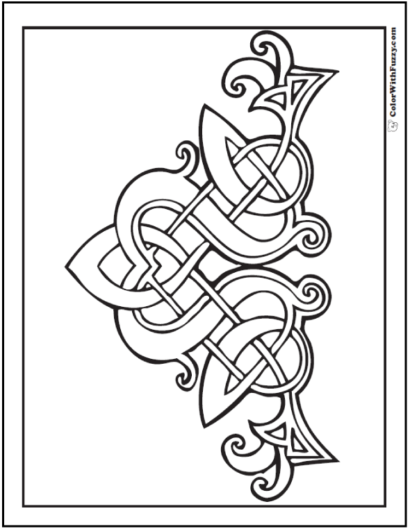 Celtic Designs: Patrick Celtic Coloring ✨ #ColorWithFuzzy #PrintableColoringPages #CelticColoringPages #ColoringPagesForKids #AdultColoringPages